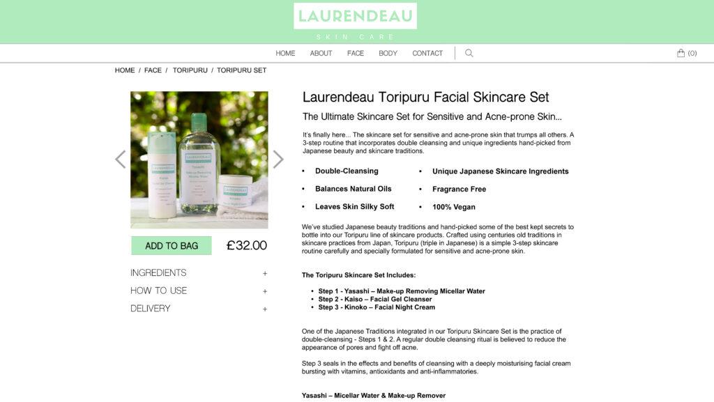Toripuru Set Product Description Webpage