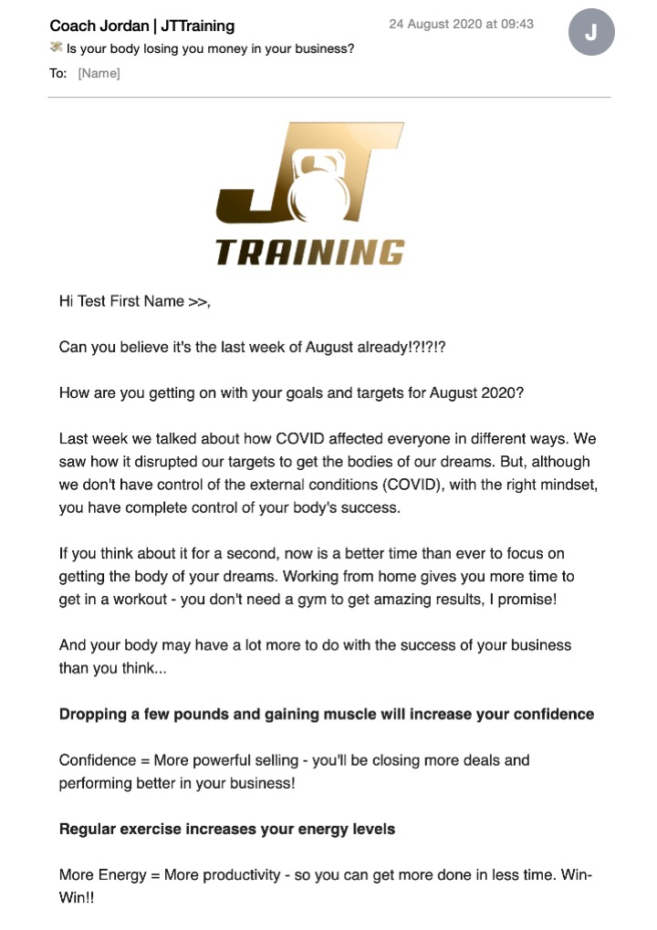 JTTraining Email Newsletter Image 1