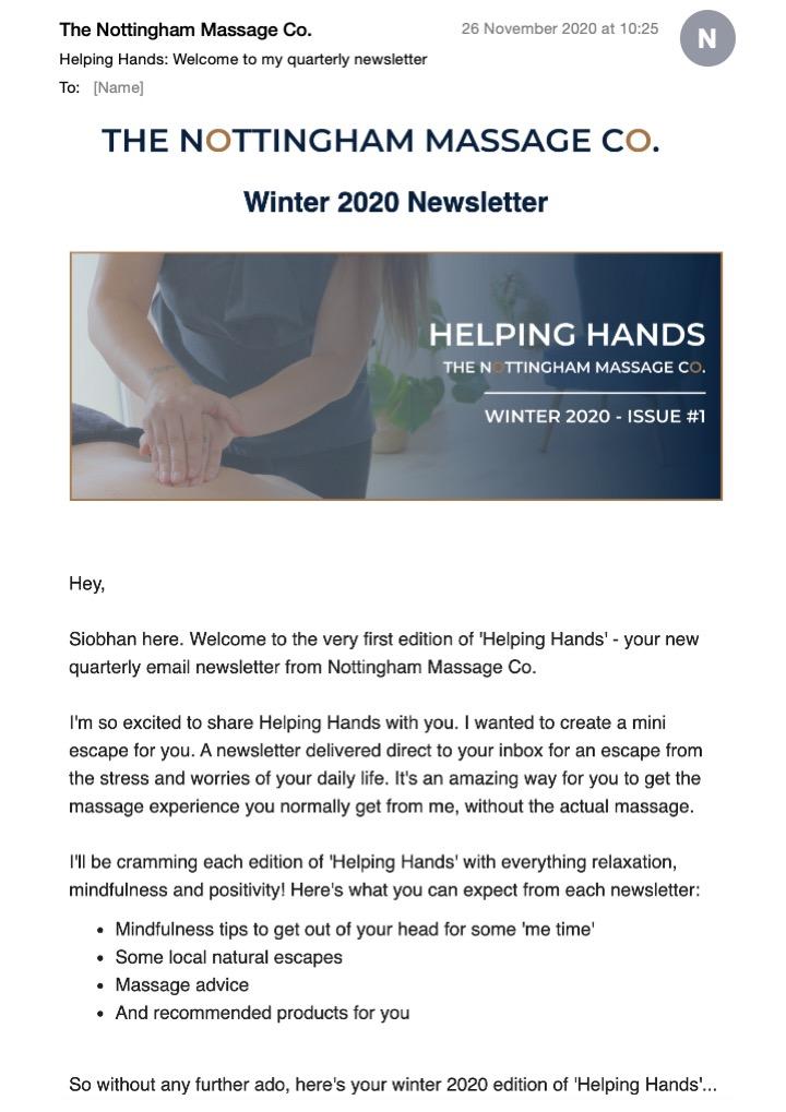 NMC email newsletter 1
