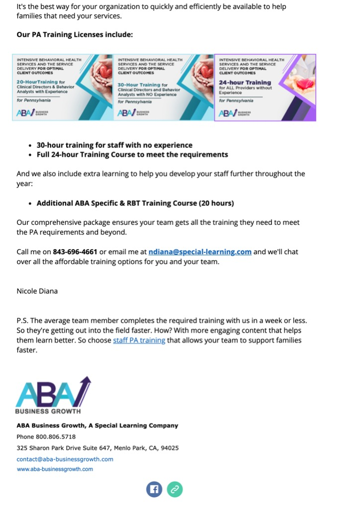Special Learning Sales Email Image 2b